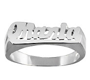 Sterling Polished Personalized Name Ring - J315202