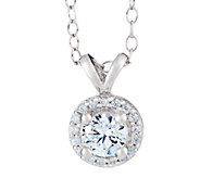 Round Diamond Halo Pendant, 14K Gold, 3/4 cttw, by Affinity - J316902