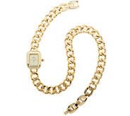 Joan Rivers Double Wrap Curb Link Watch - J317702