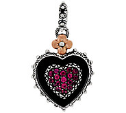 Barbara Bixby Sterling & 18K Multi-Gemstone Pave Heart Charm - J321602