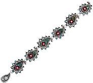Barbara Bixby Sterling & 18K Gemstone Paisley 8 Bracelet - J322502