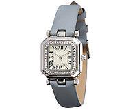 Isaac Mizrahi Live! Octagon Crystal Bezel Strap Watch - J323402