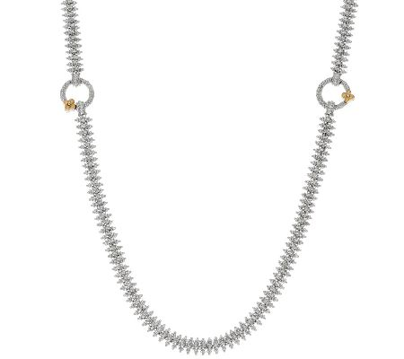 Barbara Bixby Sterling/18K Rhodium Eastern Chain Necklace