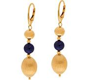 As Is Veronese 18K Clad Gemstone & Satin Bead Dangle Earrings - J328402