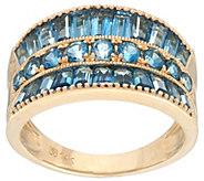 Round & Baguette Semi-Precious Gemstone Ring 14K, 2.50 cttw - J328502