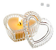 Diamonique 2 cttw Round Stud Earrings Inside Candle with Heart Box - J329102