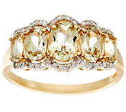 Csarite & Diamond 5-Stone Band Ring, 14K Gold 2.00 cttw - J329802