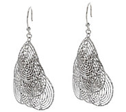 Italian Silver Sterling Diamond Cut Dangle Earrings - J330602