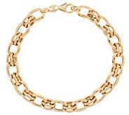 As Is EternaGold 7-1/2 Oval Link Bracelet, 14K Gold, 6.1g - J331002