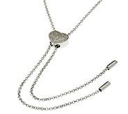 Diamond Heart 36 Sterling Lariat Necklace 1/5 cttw, by Affinity - J331102