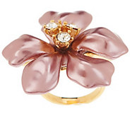 As Is Kenneth Jay Lanes Simulated Pearl Flower Ring - J331302