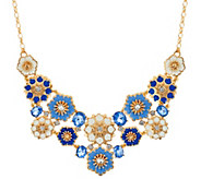 C. Wonder Crystal & Enamel Floral Bib Statement Necklace - J333702