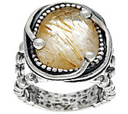 Sterling Silver 5.50 ct Rutilated Quartz Ring by Or Paz - J335602