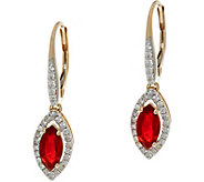 Marquise Fire Opal & Diamond Drop Earrings, 14K 0.60 cttw - J335802