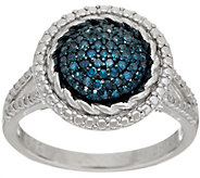 Pave Round Colored Diamond Ring, Sterling, 1/4 cttw by Affinity - J348802