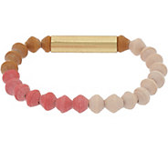 31 Bits Multi-Color Beaded Sand Bar Stretch Bracelet - J349302