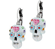 Kirks Folly Sugar Skull Leverback Earrings - J351502
