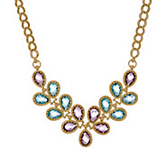 Arte d Oro 18.30 cttw Floral Gemstone Necklace, 18K Gold - J353502
