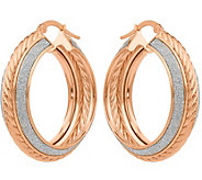 14K Glitter-Infused Hoop Earrings - J377302