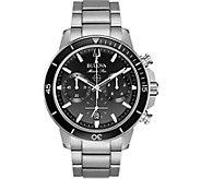 Bulova Mens Marine Star Black Dial ChronographWatch - J378502