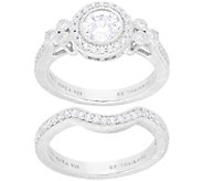 Judith Ripka Sterling Set of 2 Diamonique Rings - J380002
