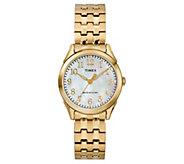 Timex Ladies Mother-of-Pearl Goldtone Analog Watch - J380602