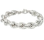 UltraFine Silver Bold Polished Rope Bracelet - J55302