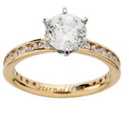 Diamonique 100-Facet 2.05 cttw Eternal Love Ring, 14K Gold - J9602