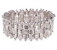 Melania Basket Weave Design Crystal Stretch Bracelet - J153103
