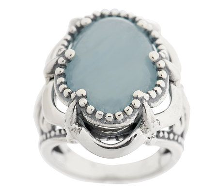 Carolyn pollack aquamarine sterling ring page 1 for Carolyn pollack jewelry qvc