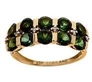 2.30 ct tw Tourmaline & Diamond Accent Band Ring, 14K - J275403
