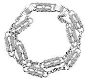 Jacqueline Kennedy Silvertone Paperclip Bracelet - J289903