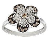 Argyle Diamond 3/10 ct tw Flower Ring, Sterling - J291303