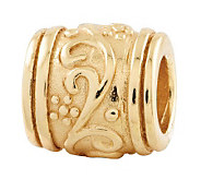 Prerogatives 14K Yellow Gold-Plated Sterling Floral Bead - J302703