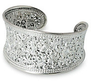 Novica Artisan Crafted Sterling Eastern Blossoms Cuff - J303903