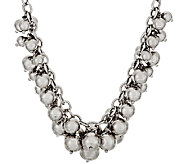 Italian Silver Sterling 18 Polished Bead Charm Frontal Necklace, 57.1g - J317303