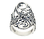 Carolyn Pollack Sterling Silver Signature Saddle Ring - J320103