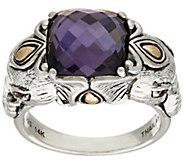 JAI Sterling & 14K Gold Doublet Elephant Ring - J320803