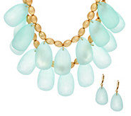 Linea by Louis DellOlio Frosted Necklace and Earring Set - J321803