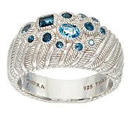 Judith Ripka Sterling Scattered Blue Topaz Ring - J322503