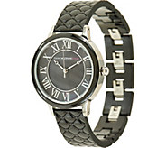 Isaac Mizrahi Live! Quilted Ceramic Mother-Of-Pearl Dial Watch - J323403