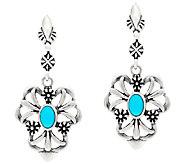 Sterling Silver Gemstone Drop Earrings by American West - J324003