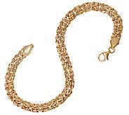 14K Gold 6-3/4 Classic Polished Byzantine Bracelet, 3.6g - J324203