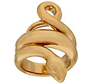 14K Gold Polished Snake Design Ring - J324703