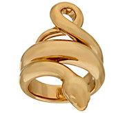 14K Gold Polished Snake Design Ring - J324703