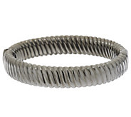 As Is VicenzaSilver Sterling Ribbed Twist Oval Bangle, 29.4g - J325403