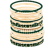 As Is Susan Graver S/15 Goldtone or Silvertone Bangles - J327803