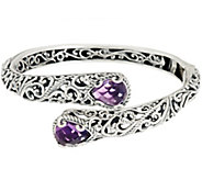 Carolyn Pollack Sterling Silver Signature 5.50ct Amethyst Bypass Cuff - J328503