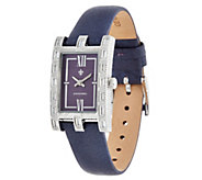 Judith Ripka Stainless Steel Versailles Diamonique Baguette Watch - J331603