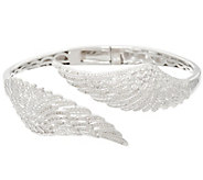As Is Angel Wing Diamond Bangle Sterling 1/3 cttw by Affinity - J332503